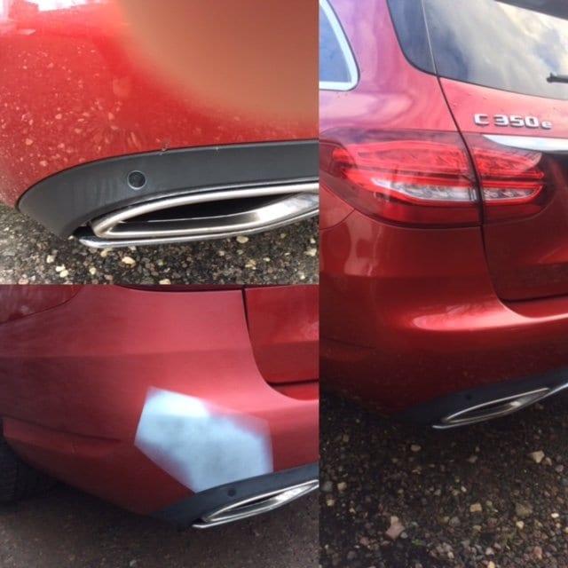 The repair in progress