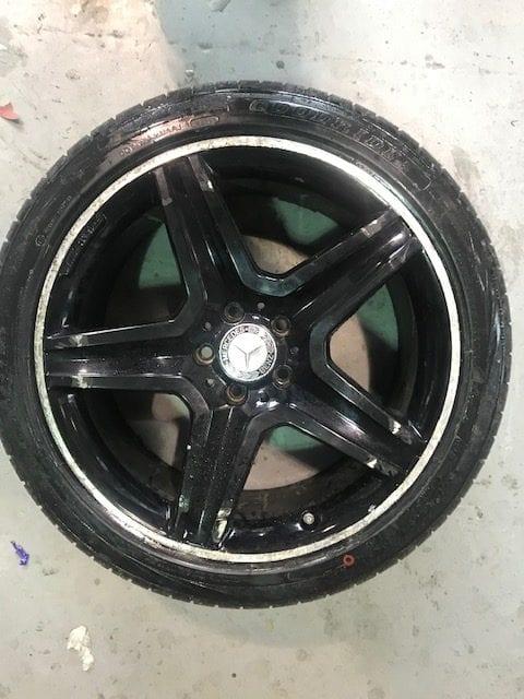 Entire damaged Merc alloy