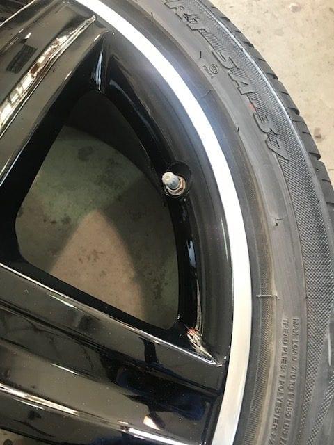 Repaired Merc alloy