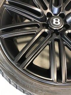 Repaired Bentley alloy