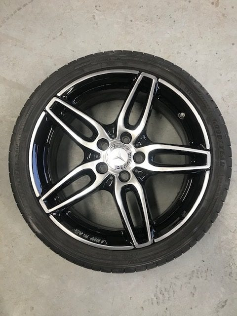 Repaired Mercedes alloy